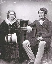 T.S. Mort and his wife Theresa, Circa 1847