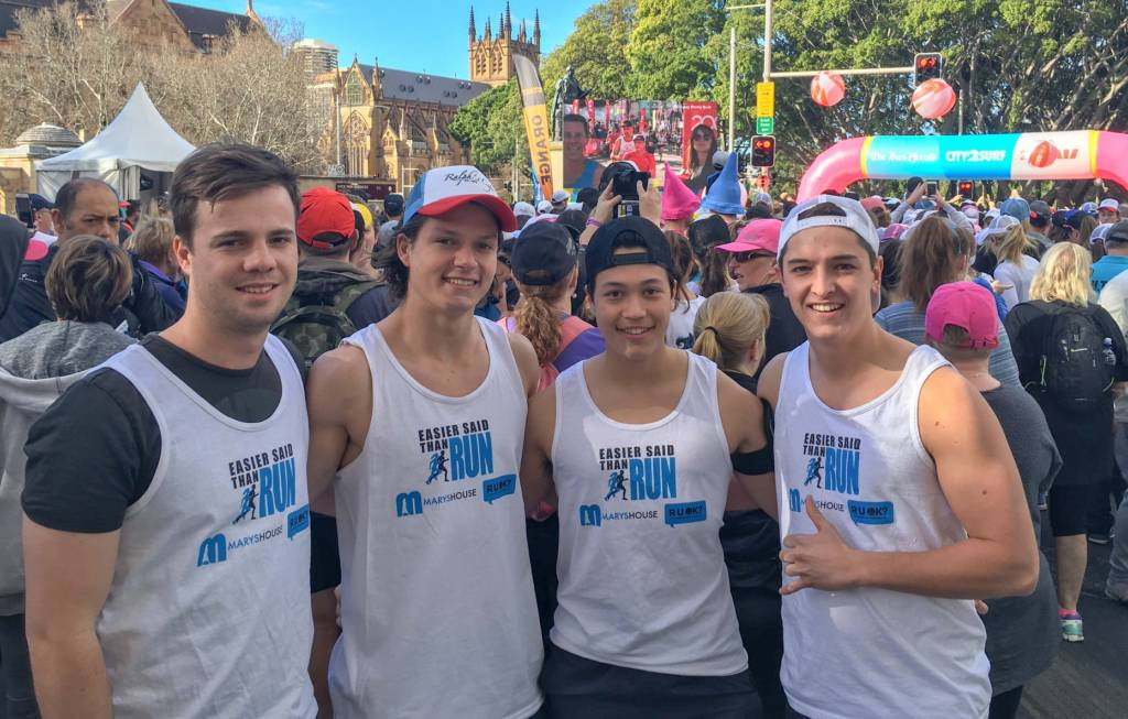 Students at City2Surf